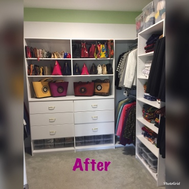 closet handbags after