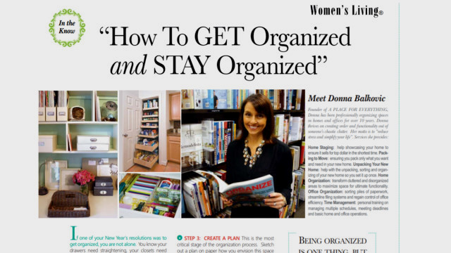 Article on Donna Balkovic in Spring 2014 issue of Women's Living Magazine